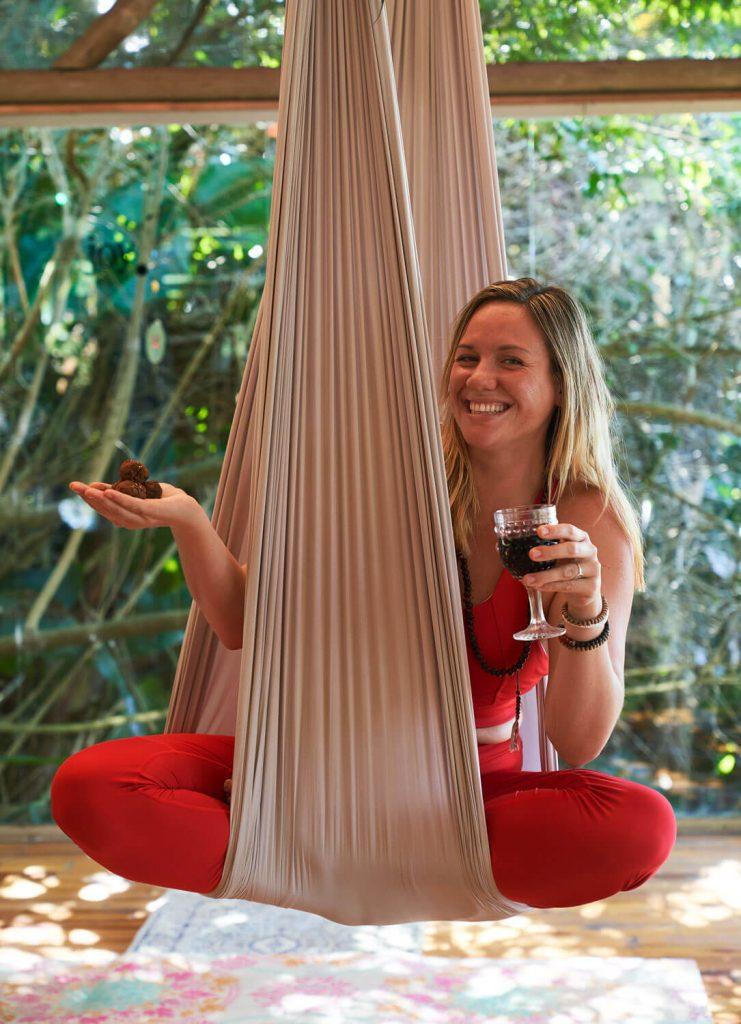 yoga retreat choc and wine aerial yoga ttc