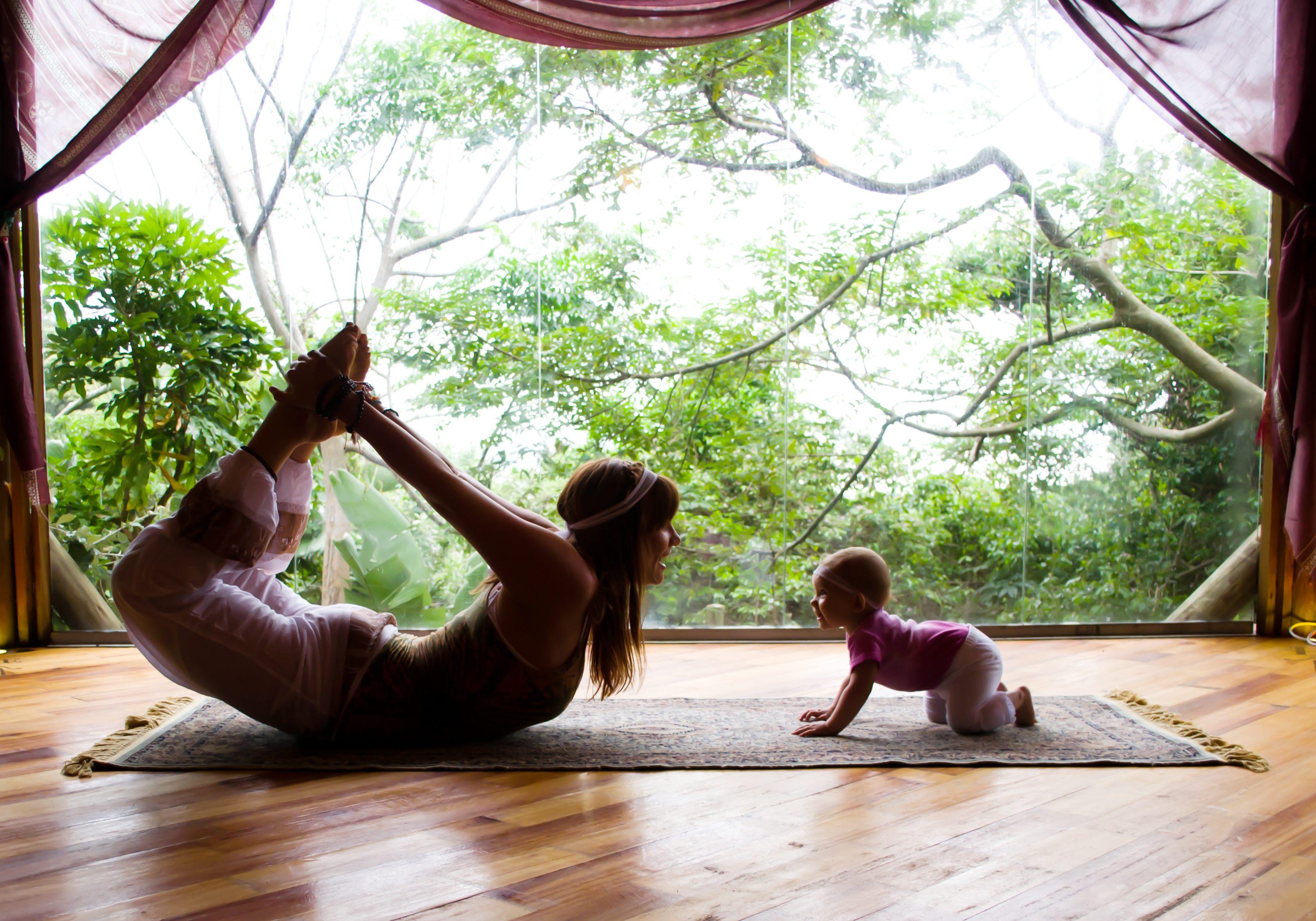 baby mom yoga hohm yoga meet sim yoga retreat yoga classes yoga south coast