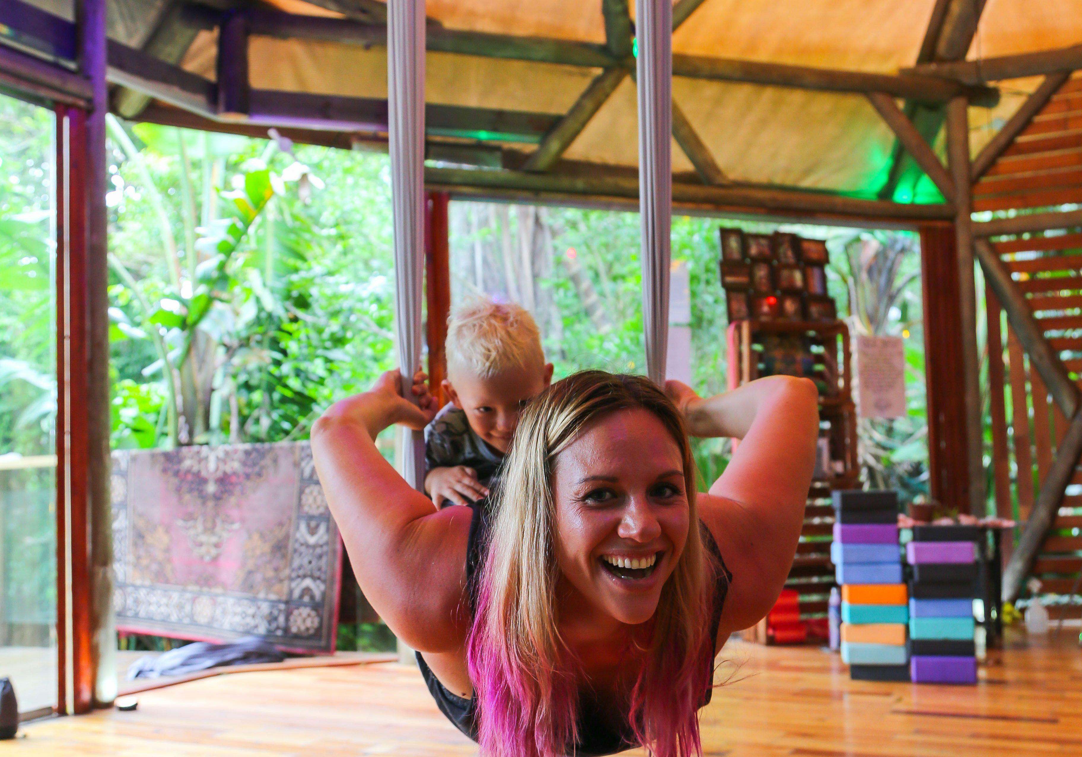 aerial yoga hammock kids play yoga retreat yoga classes