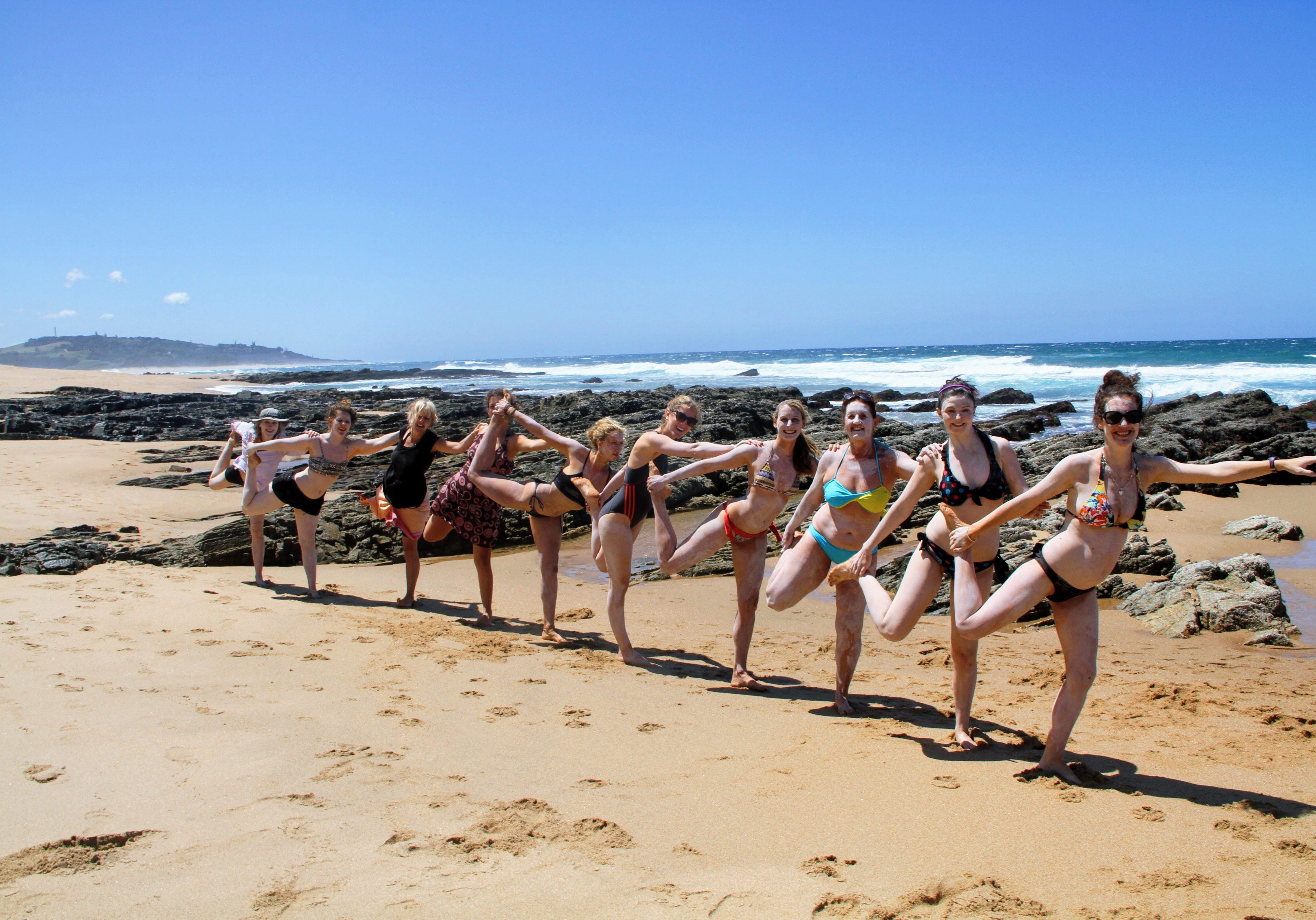 yoga teacher training beach yoga yoga girls on the beach 200 hours ttc